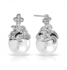 Belle Etoile Fiona White Earrings. Elegance defined as only Belle Etoile can. Jewelry shop online now at Elegant Jewelers. Email us sales@elegant-jewelers.com