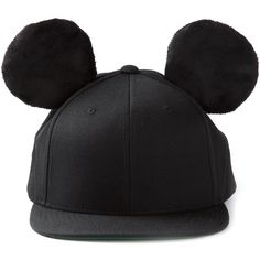 ADEEN 'Kingdome Mickey' cap ($155) ❤ liked on Polyvore featuring accessories, hats, cap, head, headwear, embroidered caps, adeen, woolen caps, mickey mouse cap and embroidered hats