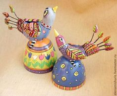 """Колокольчики керамические """"Птица счастья"""" - разноцветный,птица,птичка"""