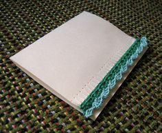 crochet edge to a greeting card - genius!