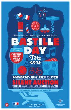 Bastille Day 2012 Poster - Alliance Française d'Austin by Ed Temple, via Behance