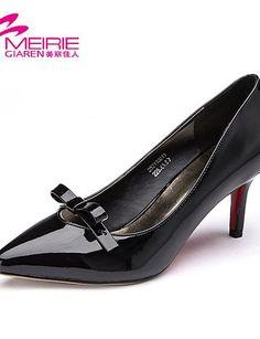 X&D Damenschuhe - High Heels - Büro / Lässig - Lackleder - Stöckelabsatz - Absätze / Spitzschuh / Geschlossene Zehe - Schwarz / Rot - http://on-line-kaufen.de/tba/x-d-damenschuhe-high-heels-buero-laessig-absaetze-9