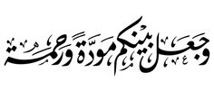 Quran 30:21 Calligraphy  And He created between you [in marriage] love and affection.