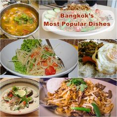 Food in Bangkok, Thailand! If you haven't tried these Thai dishes, you're missing out because they're delicious!