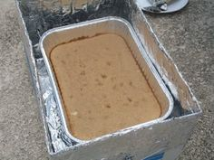 Cardboard Box Oven - how to bake without electricity