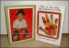 Handprint and Footprint Arts & Crafts: Handprint with Poem Picture Frame #keepsake #giftidea