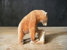 Hand carved hand painted wooden animals