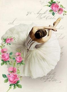 Ballerina digital collage p1022 Free for personal  use <3
