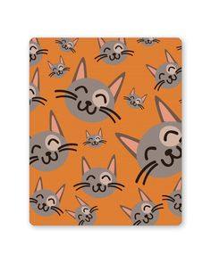 Cute Happy Cats Pattern Mouse Pad