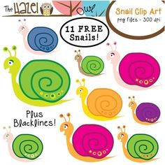 FREE Snail Clip Art!  Spring is on its way!!  :)