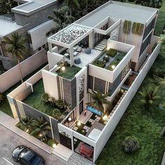 Best Modern House Design, Modern Villa Design, Modern Exterior House Designs, Bungalow House Design, House Front Design, Dream House Exterior, Modern Architecture House, Small House Design, Exterior Design