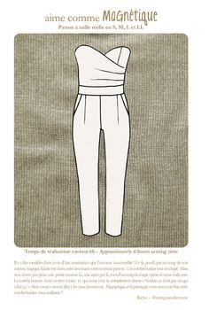 Website lists many independent patternmakers; Image of aime comme Magnétique Sewing Clothes Women, Sewing Pants, Diy Clothes, Clothing Patterns, Sewing Patterns, Aime Comme Marie, Diy Vetement, Tilly And The Buttons, Jumpsuit Pattern