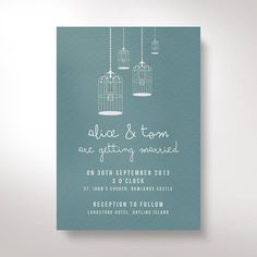Birdcage wedding invitations Wedding Invitations and stationery