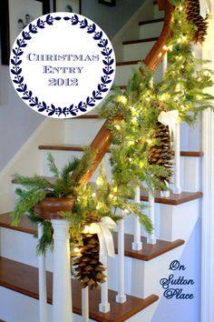 Creative use of Pine cones. Christmas Entry 2012 ~ On Sutton Place
