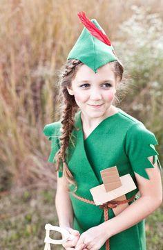 Fasching Kostüme für Kinder - Peter Pan aus grünem Fleece