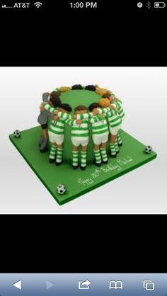 Soccer cake Soccer Cupcakes, Soccer Cake, Bolo Sporting, Fondant Cakes, Cupcake Cakes, Dessert Ideas, Cake Ideas, Cakes For Boys, Ikebana