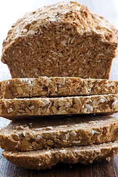 Whole wheat country harvest bread. (Used 1 cup white flour & 2 cups whole wheat. Can sub some of the seeds for nuts, oats, etc. Used smaller bread pan and baked about 40 min. Really, really yummy!)