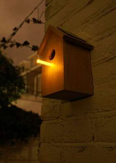 Glowing Perch by OOOMS Attracts Insects for Birds at Night #homedecor trendhunter.com