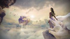 Fantasy, Nature, Beautiful, Dawn, Sunset, Sky, Cloud