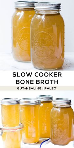 Easy gut-healing remedy you can make at home with bones and veggies in a slow cooker. Easy gut-healing remedy you can make at home with bones and veggies in a slow cooker. Whole 30 Recipes, Real Food Recipes, Health Recipes, Detox Recipes, Slow Cooker Bone Broth, Paleo Crockpot Recipes, Paleo Sauces, Paleo Diet Plan, Aip Diet