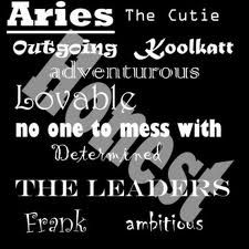 Aries, it a difficult job but someone has to do it.
