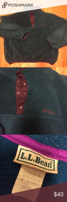 Vintage LL bean fleece Good condition. Small place on arm. Pockets 💥reasonable offers accepted!💥 L.L. Bean Shirts Sweatshirts & Hoodies