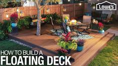 A deck is a great place to spend time with your family, whether you're dining or relaxing. This series will show you step by step how to build a floating or detached deck — one that isn't attached to the house.