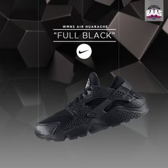 "Nike Wmns Air Huarache ""Full Black"" 