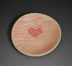 darling faux bois personalized ring dish