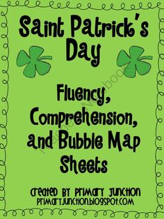 St. Patrick's Day Fluency, Comprehension, and Bubble Map Sheets from Primary Junction on TeachersNotebook.com (15 pages)  - This Saint Patrick's Day packet includes fluency passages with comprehension questions and bubble maps. Use these to get your students in an Irish mood!