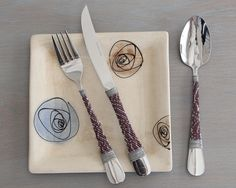 Beaded Utensils  Wedding Cutlery Set  Cutlery by africaohafrica
