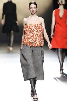 #AmayaArzuaga #FW2016_17 #MBFWM #Madrid #Catwalk #readyToWear #trends #checkered #baggy #crochet