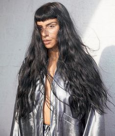Sevdaliza photographed in silver jacket