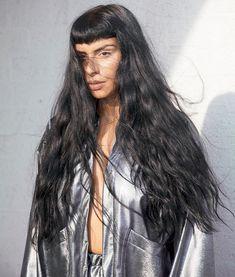 Sevdaliza photographed in silver jacket