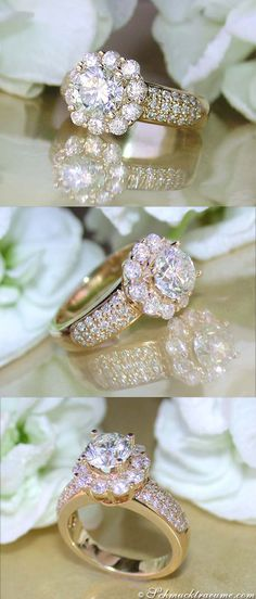 High-End: Solitaire Diamond Ring, 2,57 cts. G-SI, YG-14K - Visit: schmucktraeume.com - Like: https://www.facebook.com/pages/Noble-Juwelen/150871984924926?ref=hl - Mail: info@schmucktraeume.com