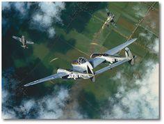 Splitting a Pair by William S. Phillips (P-38 Lightning)
