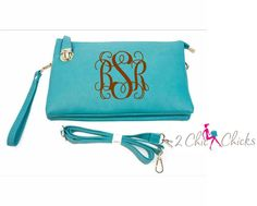 Monogram Crossbody Purse with buckle closure , monogram clutch, monogram handbag, bridesmaids gift, crossbody bag embroidered purse by 2chichicks on Etsy