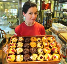 Fresh muffins arriving at the Deli @Jamie's Italian, Milsom Place, Bath.