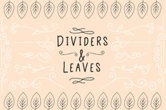 Use these hand drawn elements to highlight text, and to create attractive die cuts and stationary. These elements are compatible...