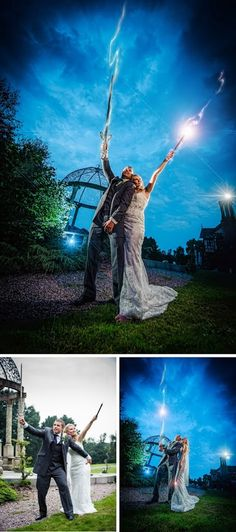 HP Wedding - crazy retouched photos with your wands!