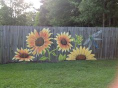"""SunFlowers~Fence""..."