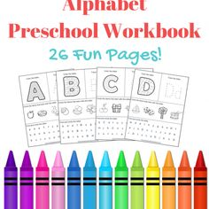 FREE Alphabet Preschool Printable Worksheets To Learn The Alphabet...