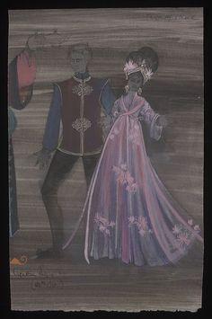 Aladdin and His Wonderful Lamp (Aladdin and Princess Balroubadour.Pantomime). London Palladium. Costume design by Cynthia Tingey. 1964