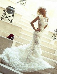 Sexy wedding dress. This is it!!! I couldn't pull this off but hot !