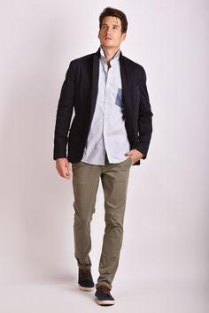 silhouette homme veste en coton jean retrouss sur les. Black Bedroom Furniture Sets. Home Design Ideas