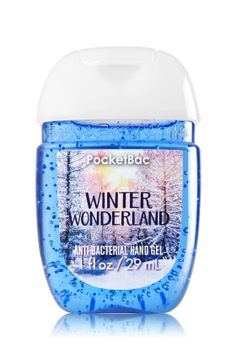 Winter Wonderland - PocketBac Sanitizing Hand Gel - Bath & Body Works - Now with more happy! Our NEW PocketBac is perfectly shaped for pockets & purses, making it easy to kill 99.9% of germs when you're on-the-go! New, skin-softening formula conditions with Aloe & Vitamin E to leave your hands feeling soft and clean.