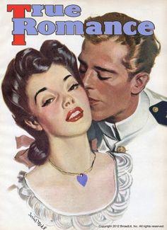 True Romances vintage magazine - May 1945 Painting by Darius Mede