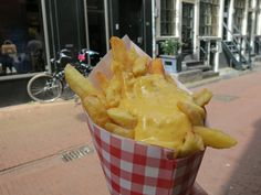 The fries from Vlaams Friteshuis Vlemincks are some of the best; they're light, crispy and, in our opinion, perfectly salted.  We recommend trying them with the joppiesaus. Vlaams Friteshuis Vleminckx is located at Voetboogstraat, 33. Follow this link to find more places to eat at in Amsterdam: http://mikestravelguide.com/where-to-eat-in-amsterdam-near-het-grachtenhuis-museum/