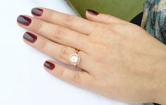 Gorgeous rose gold engagement ring!