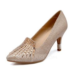 [US$ 42.99] Women's Sparkling Glitter Stiletto Heel Pumps Closed Toe With…